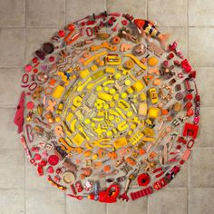 Mandala made from household objects, ©2014 Stephan Hillerbrand and Mary Magsamen of Hillerbrand+Magsamen