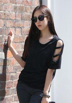 Black T-Shirt 블랙티셔츠 Cute Gmarket stuff