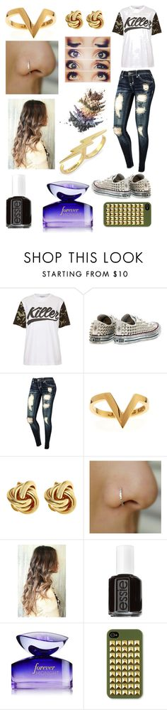"""""""Patterns: Camouflage"""" by rania-horan ❤ liked on Polyvore featuring Illustrated People, Converse, Janis Savitt, C. Wonder and Essie"""