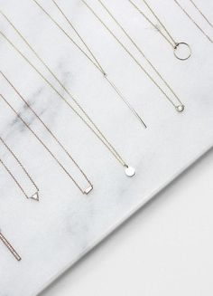 Simple necklaces | flatlay | jewelry