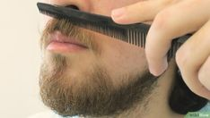 How to Trim a Mustache. The mustache is a classic look for men, but over time they can grow out and look unruly. If you want to control your mustache and keep it looking clean, all you need are a few basic grooming products. While a basic. Mustache Grooming, Mustache Wax, How To Trim Mustache, Handlebar Mustache, Eyebrow Shaper, Mustache Styles, Side Hairstyles, How To Line Lips, Beard Trimming