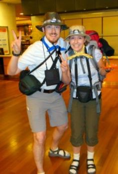 DIY Halloween Costumes for Couples - The Tourists - Funny, Creative and Scary Ideas for Parties, College Party - Unique and Cute Project Idea for Disney Characters, Superhero, Movie Themes, Bonnie and Clyde, Homemade Costume Projects for Boyfriends - Quick Last Minutes Halloween Costume Ideas from Pinterest http://diyjoy.com/best-halloween-costumes-couples