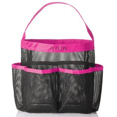 Hair accessory and comb caddy. Waterproof, drip-dry mesh holder goes from shelf to shower with ease, and folds up for travel. L x W x 8 H. Avon Sales, Hair Essentials, Body Powder, Avon Online, Avon Representative, Drip Dry, Childrens Shoes, Feet Care, Folded Up