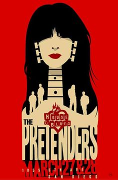 Afiche en favor del Blues de los Pretenders, San Francisco.