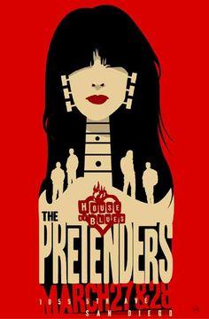 Afiche en favor del Blues de los Pretenders, San Francisco.