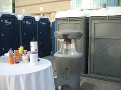 Great idea for outside the porta potties.