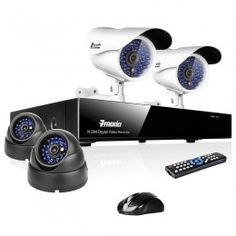 Security: 2 types of camera for indoor and outdoor security for you and your family. (image from cvsecuritycam.com)