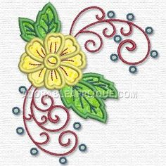 This free embroidery design is a flower.