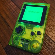 On instagram by tankboycustoms #retrogaming #microhobbit (o) http://ift.tt/1VgYJiJ New extreme green Game Boy Pocket with a green backlight. I really LOVE this one! #gameboy #gameboypocket #chiptune #green #extremegreen #nintendo #retro #1997 #handheld #handheldgaming #8bit #mario #wario #zelda #metroid