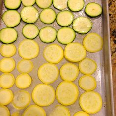 Squash chips 375 degrees for about 30 min and enjoy the best snack ever! Salt them up! yummmm