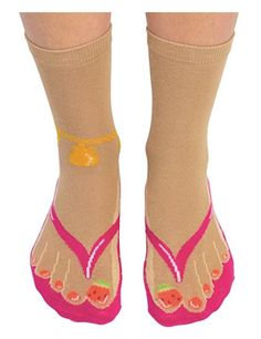Cockney Spaniel Ladies Novelty Flip Flop Socks
