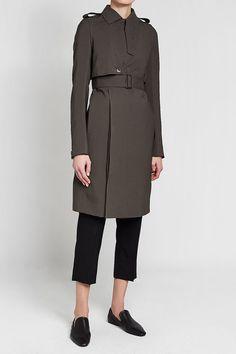 RICK OWENS - Virgin Wool Trench Coat | STYLEBOP Wool Trench Coat, Grey Fashion, Rick Owens, Style Inspiration, Grey Style, Pretty, Jackets, Shopping, Women