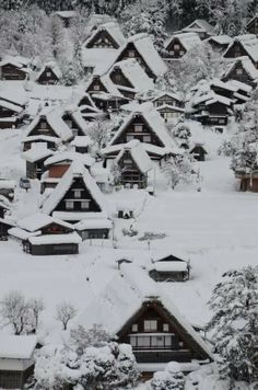 Snow in Historic Villages of Shirakawa-go, Gifu, Japan