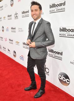 "Pete Wentz of ""Fall Out Boy"" rocked the red carpet when he arrived in a dapper suit at the 2014 Billboard Music Awards on May 18, 2014."