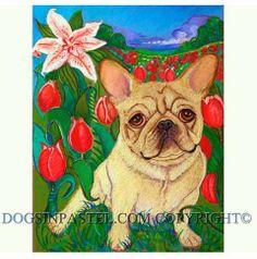 French Bulldog painting art French bulldog by dogsinpastel on Etsy