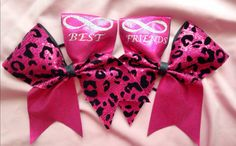 Cheer+bows+best+friends+infinity+by+SarahsCheerBows+on+Etsy,+$24.00