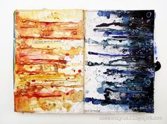 Mixed Media Place: Night Meets Day