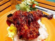resep ayam bakar bumbu rujak yang lezat