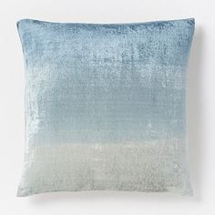 You'll need two for the couch - to replace current ikat - Ombre Velvet Pillow Cover – Blue Lagoon #westelm