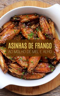Gourmet Recipes, Cooking Recipes, Healthy Recipes, Good Food, Yummy Food, Portuguese Recipes, Chicken Wing Recipes, Low Carb Diet, Quick Meals
