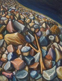 Decided that acrylic was the medium for rocks....  www.gaylehalliwell.com