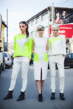 #streetstyle #streetfashion #outfit #spring #summer #fashion #fashionbloggers #clothing #shopping #designers #edgy #neon #inspiration #young #dress #white #coat #grey #spring #pants #trousers #street www.facebook.com/hihirifashion