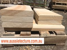Aussietecture natural stone supplier has a unique range natural stone products for walling, flooring & landscaping. Sandstone Cladding, Natural Stone Cladding, Sandstone Paving, Landscape Design, Garden Design, Stone Supplier, Logs, Exterior Design, Natural Stones