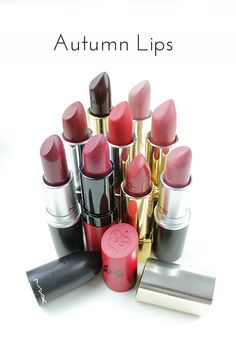 Take a look at my pick of colours for Autumn Lips - including red, berries and neutrals