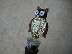 Hey, I found this really awesome Etsy listing at https://www.etsy.com/listing/166467806/unique-glass-owl-animalglass-wine-bottle