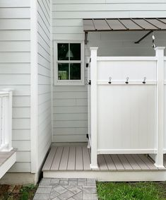 The Duplex Backyards – Patios, Sheds, & Outdoor Showers Galore Young House Love Outdoor Pool Shower, Outdoor Shower Enclosure, Young House Love, Pool House Bathroom, Pool House Shed, Outside Showers, Beach Shower, Outdoor Bathrooms, Outdoor Kitchens