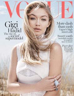 Gigi Hadid covers the June 2015 issue of Vogue Australia.
