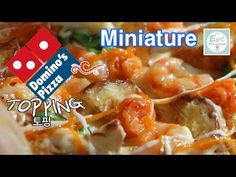 피자 2 토핑편 ✔미니어쳐 음식 Domino's Pizza seafood ✔miniature polymer clay tutorial - YouTube
