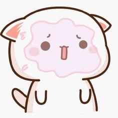 蜜桃猫 Sad Wallpaper, Cute Wallpaper Backgrounds, Cute Wallpapers, Chibi Cat, Cute Chibi, Cute Love Pictures, Cute Images, Pretty Tumblr, Neko