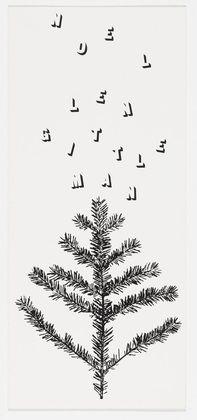 "Robert Brownjohn (American, 1925–1970) Len Gittleman Christmas Card Date: 1950s Medium: Lithograph Dimensions: 8 1/2 x 3 7/8"" (21.6 x 9.8 cm) Credit Line: Gift of Don Goeman MoMA Number: 1056.2011 Copyright: © 2014 Eliza Brownjohn"