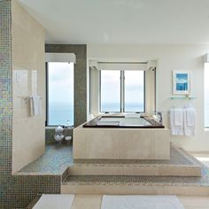 Luxuriously appointed marble bathroom with whirlpool bath in this sensational homes for sale in St Kitts - http://www.7thheavenproperties.com/property.asp?Id=1205