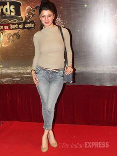 Kainaat Arora in jeans paired with a beige top at the Indian Television Awards Tight Dresses, Sexy Dresses, Short Dresses, Bollywood Celebrities, Bollywood Fashion, Indian Designer Suits, Beige Top, Televisions, Awards