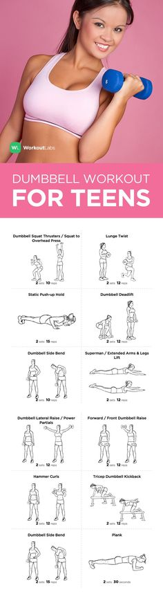 Visit http://WorkoutLabs.com/workout-plans/full-body-dumbbell-workout-for-teens/ for a FREE PDF of this Full Body Dumbbell Workout for Teens