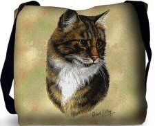 """Tabby Cat Tote Bag (Brown): """"Our Tabby Cat (Brown) Tote Bag makes a wonderful accessory for anyone… Cat Merchandise, Cat Cushion, Cat Bag, Printed Bags, Animal Jewelry, Pet Gifts, Pet Portraits, Shoulder Bag, Animals"""