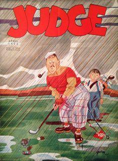 Judge Magazine April 1934 Golf Cover
