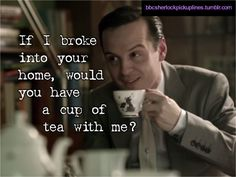 Moriarty (Andrew Scott) charms our socks off.