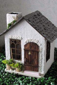handmade House Template Fairy Garden Houses Cardboard Crafts Putz Houses Paper Houses Stone Houses Miniature Houses Doll Crafts Christmas Home Clay Houses, Putz Houses, Paper Houses, Stone Houses, Miniature Houses, Cardboard Houses, Miniature Dolls, Doll Houses, Fairy House Crafts