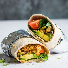 The ultimate vegan breakfast burrito. Stuffed full of breakfast goodness from scrambled chickpeas to fresh avocado, this really is the best way to start your day! Is there much better in life than an epic brunch? Whenever we have people over, I love having them for brunch, it's such a fun meal of the day. …