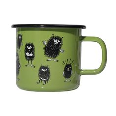 Moomin Enamel Retro Mug Stinky Muurla Design Finland New Mobile Homes, Moomin Mugs, Kids Book Series, Moomin Valley, Green Mugs, Discount Designer, Finland, Tea Pots, Scandinavian