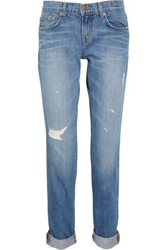 J Brand Denim|Aiden distressed boyfriend-fit jeans|NET-A-PORTER.COM