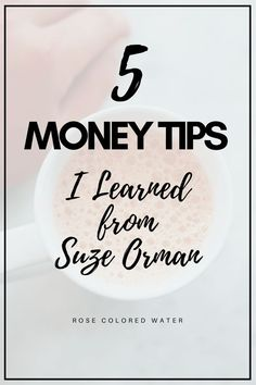 5 Things I Learned from Suze Orman Money Tips, Money Saving Tips, Money Hacks, Saving Ideas, Financial Success, Financial Planning, Financial Literacy, Suze Orman, Retirement Planning