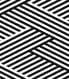 Tressed Stripes by Julio Himede #graphic #stripes #B&W - Carefully selected by GORGONIA www.gorgonia.it