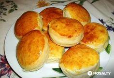 Krumplis pogácsa házi zsírral | NOSALTY Hungarian Recipes, Scones, Hamburger, Food, Breads, Bread Rolls, Meal, Eten, Hamburgers
