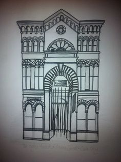 This is a sketch I did using pencil and sharpie of the English Market in Cork City, Ireland. Let me know what you think! Cork City, Sharpie, Seaside, Thinking Of You, Ireland, Pencil, Sketch, English, Let It Be
