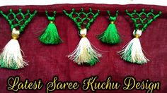 In this video, You will learn how to make saree kuchu easily. Saree tassels making in easy way. We are going to upload many more Saree kuchu & Krosha kuchu d. Saree Kuchu New Designs, Saree Tassels Designs, Bridal Blouse Designs, Rangoli Designs Peacock, Mehndi Art Designs, Latest Sarees, Ankle Bracelets, Jewelry Patterns, Fabric Flowers