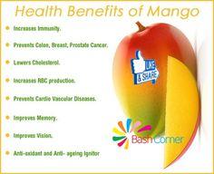 Health Benefits Of Yummy Mango